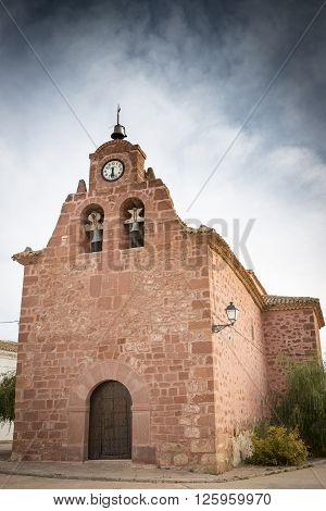 San Juan Bautista parish church in Chequilla, Guadalajara, Spain
