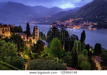 Lago di Como (Lake Como) Moltrasio at blue hour