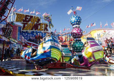 MUNICH, GERMANY - OCTOBER 02, 2015: Carousel