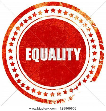 equality, isolated red stamp on a solid white background