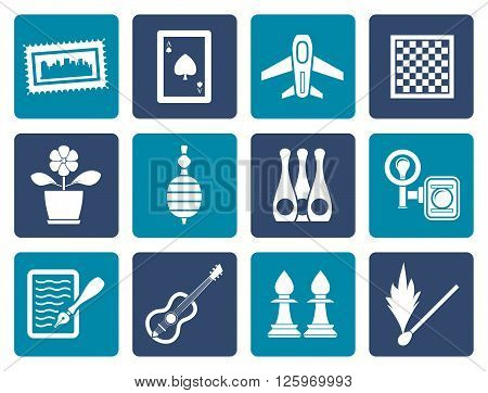 Flat Hobby, Leisure and Holiday objects - Vector Illustration