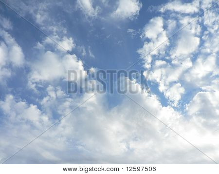 Blue Opening in the Clouds