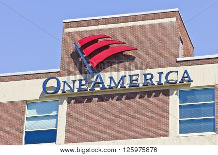 Indianapolis - Circa April 2016: OneAmerica Downtown Location. OneAmerica is a Mutual Insurance Holding Company