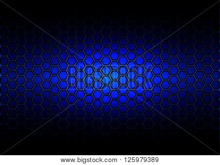 abstract pattern hexagon on dark blue color background