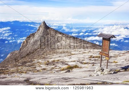 Mount Kinabalu South Peak in Sabah, Borneo, East Malaysia.