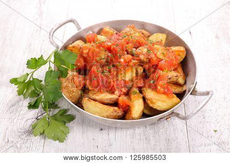 potato bravas,spanish tapas