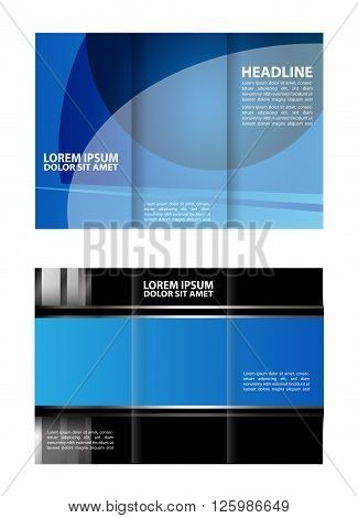 tri fold business brochure template. Vector modern tri-fold brochure design template