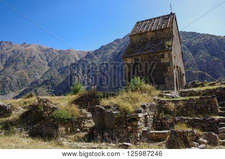 Zorats Church. Armenian Warrior's Church. Yeghegis, Armenia