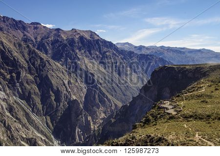 Colca Canyon Near Cruz Del Condor Viewpoint. Arequipa Region, Peru,south America.
