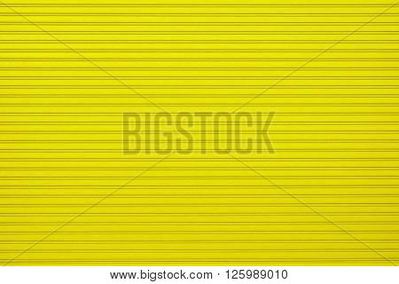 corrugated metal background - yellow texture surface