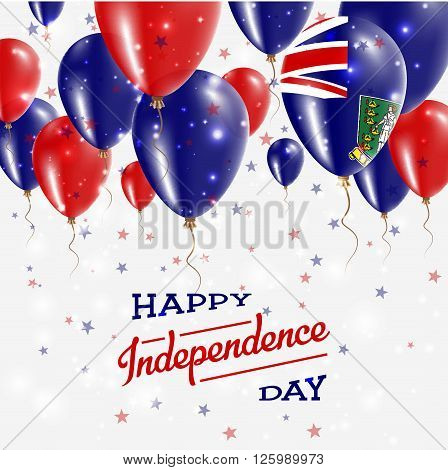 Virgin Islands, British Vector Patriotic Poster. Independence Day Placard With Bright Colorful Ballo