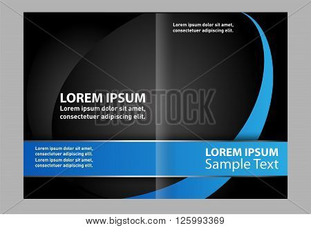 Vector blue brochure template design EPS 10
