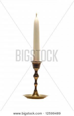 Antique Brass Candlestick Candleholder