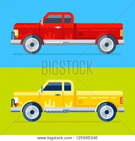 Two Vector Trucks