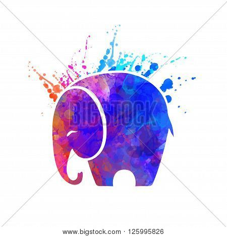Greeting Beautiful card with Elephant. Frame of animal made in vector Elephant Illustration for design pattern textiles Hand drawn map with Elephant Bright print on t-shirt cup canvas and other object