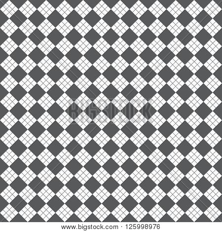 Seamless pattern. Modern stylish geometric texture with regularly repeating rhombuses diamonds. Vector element of graphic design