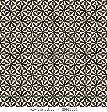 Seamless pattern. Modern stylish geometric texture. Regularly repeating tiles with rhombuses squares triangles. Vector element of graphic design
