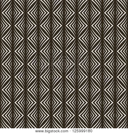 Seamless pattern. Modern stylish geometric texture. Regularly repeating tiles with rhombuses diamonds. Vector element of graphic design