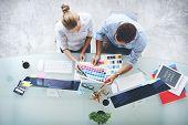 Design Studio Creativity Ideas Teamwork Technology Concept poster