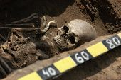 stock photo of exhumed  - Ancient grave - JPG