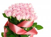 image of pink rose  - Pink Rose Bunch - JPG