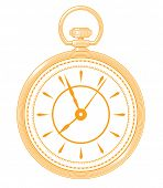 Постер, плакат: Golden pocket watch icon isolated on white background Pocket watch vector Pocket watch illustratio