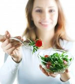 foto of healthy eating girl  - Healthy Eating Concept - JPG