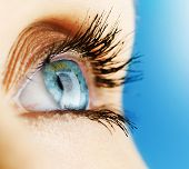 image of blue eyes  - Beautiful Blue Eye closeup - JPG