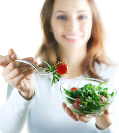 foto of healthy eating girl  - Healthy Eating Concept - JPG