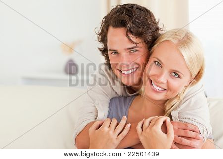 Lovely Couple Embracing Each Other