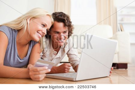 Close Up Of Couple Purchasing Online