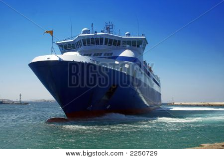 Ferry Boat - Mykonos Island, Greece