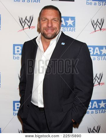 LOS ANGELES - AUG 11:  Triple H arriving at the