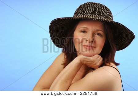 Sassy Lady In Hat