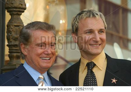LOS ANGELES - APR 10: Regis Philbin; Michael Gelman at a ceremony where Regis Philbin receives the 2222th star in Los Angeles, California on April 10, 2003