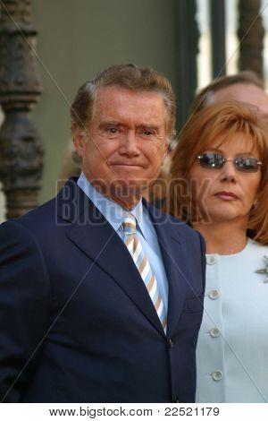LOS ANGELES - APR 10: Regis Philbin; wife Joy at a ceremony where Regis Philbin receives the 2222th star in Los Angeles, California on April 10, 2003