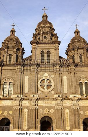 St. Joseph Church Wangfujing Cathedral Facade  Basilica Beijing China