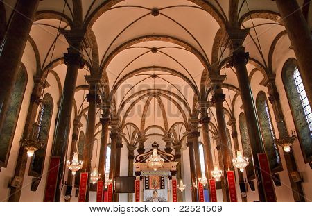 St. Joseph Church Wangfujing Cathedral Interior Basilica Beijing China