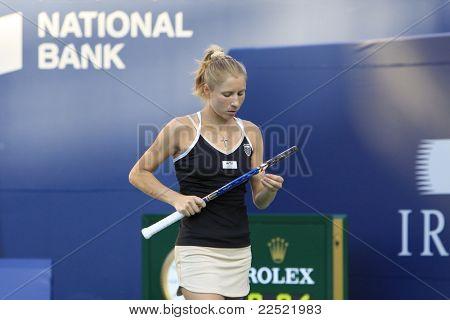 TORONTO: AUGUST 11. Bondaremko plays against Williams in the Rogers Cup 2011 on August 11, 2011 in Toronto, Canada.