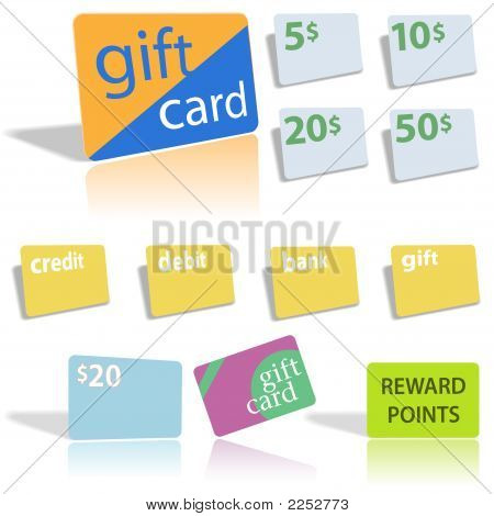 Gift Credit Debit Bank Cards