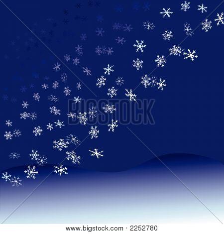 Nightfall Snowflakes Snowfall.Eps