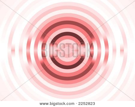 Fractal Abstact Background - Red Circular Stripes Design