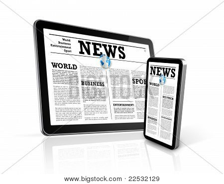 News On Mobile Phone And Digital Tablet Pc Computer
