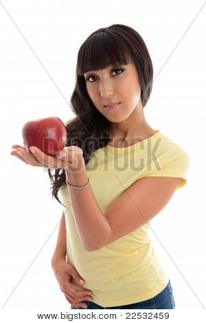 Healthy Choice - Woman Holding Fruit