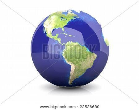 Globe - South America