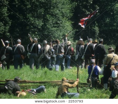 Confederate Soldiers Advance,