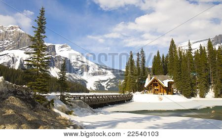 Emerald Lake In Winter, Canadian Rockies