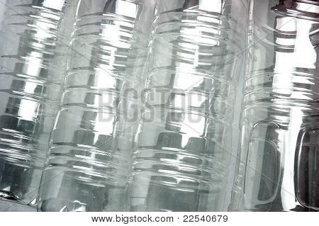 Backgorund Texture Pattern Of Plastic Beverage Bottles
