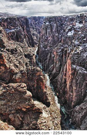 Black Canyon, o Parque de Gunnison, no Colorado