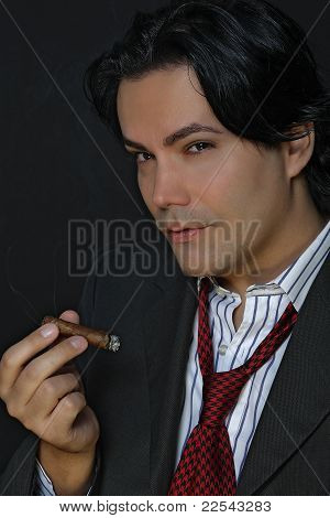 Businessman and the cigar
